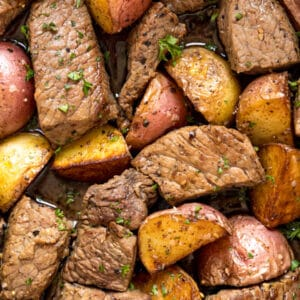 This Sirloin Steak and Potato Bites recipe is an easy one-pan dinner. It's full of delicious flavor and comes together quickly- the perfect option for meat-and-potatoes on a weeknight.