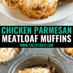 These easy Chicken Parmesan Meatloaf Muffins have all the great flavors of a classic Chicken Parmesan recipe, but they come together much quicker. It's an Italian twist on classic meatloaf and is the perfect 30 minute meal for busy weeknights!